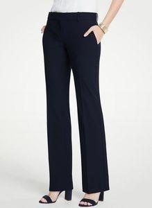 Ann Taylor Navy SignatureFit Trouser Leg Pants NWT
